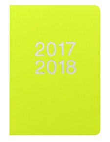 Kalender 2017-2018 Letts Dazzle A6 U/S pear