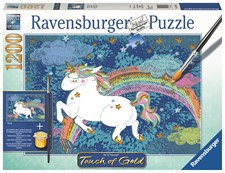 Touch of Gold Pussel 1200 bitar, Enhörning, Ravensburger
