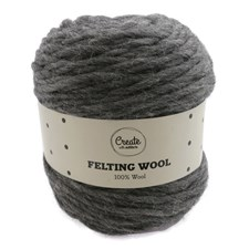 Adlibris Felting Wool 100g Dark Grey Melange A115