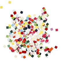 Kartongmosaikk, str. 10x10 mm, ass. Farger, kvadratiske, 180g