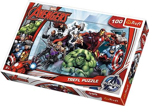 Puslespill, 100 brikker, Avengers