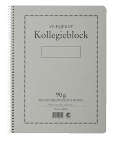 Kollegieblock Svanenmärkt A4 Olinjerat 90g 70 Blad