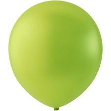 Ballonger, lime, dia. 23 cm, runde, 10stk.