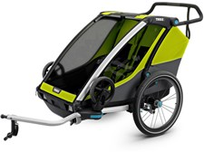 Thule Chariot Cab2 Cykelvagn, Chartreuse