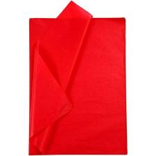 Silkepapir, ark 50x70 cm, 19 g, 25 ark, rød
