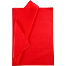 Silkespapper 50x70 cm Röd 25 Ark