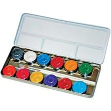 Eulenspiegel Ansiktsmaling - Sminkepalett, perlemorsfarger, 12farger