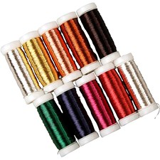 Metalltråd, tykkelse 0,18 mm, ca. 10x125 m, 10x50 g