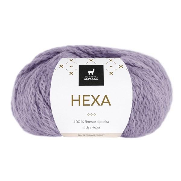 Du Store Alpakka Hexa Garn 50 g Lavendel 937