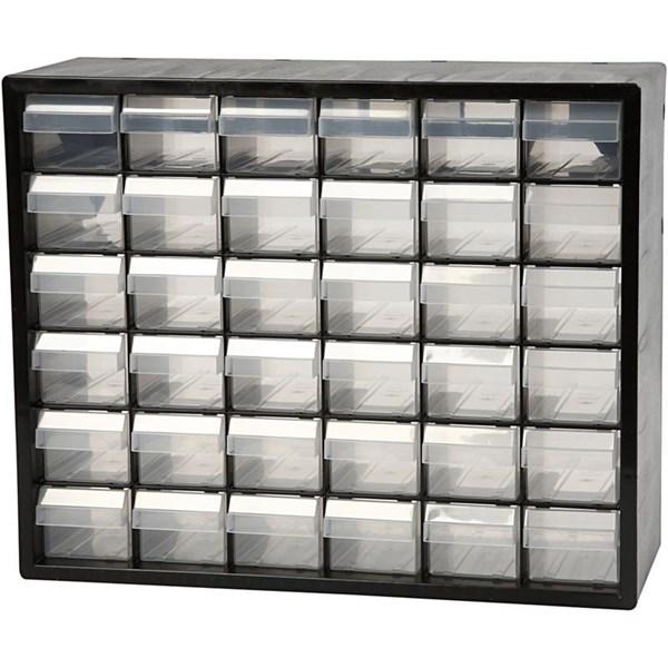 Raaco sortimentskåp  stl. 33x40 7x14 1 cm  hålstl. 60x50 mm  PC 36  1set
