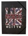 Gummibandsmapp Papper London City