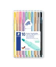 Triplus® textsurfer® 10-pack, i STAEDTLER-box, 1-4 mm fiberspets. Pastellfärger