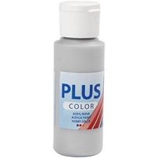 Plus Color hobbymaling, 60 ml, silver