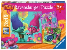 Poppy's colorful world, Pussel 3x49 bitar, Ravensburger