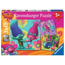 Poppy's colorful world, Pussel 3x49 bitar, Ravensburger