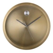 Bloomingville Väggklocka Aluminium Diameter 25 cm, Höjd 4 cm Guld
