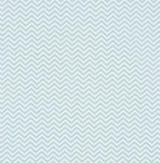 Bomullstyg Zigzag 50x160 cm Isblå