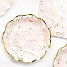 Tallrikar Rosa Marmor 12-pack
