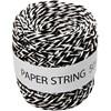 Paperinaru, 50 m, musta/valkoinen