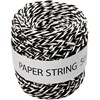 Paperinaru, musta/valkoinen, paksuus 1 mm, 50 m/ 1 rll
