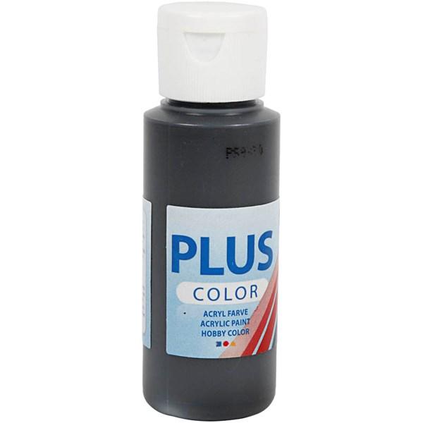 Plus Color hobbymaling, 60 ml, black