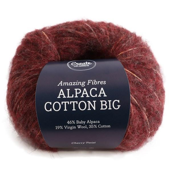 Adlibris Alpaca Cotton Big 50g Cherry Twist A675