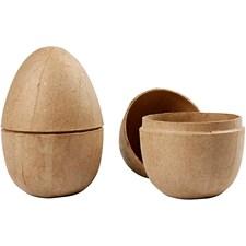 Todelt egg, H: 12 cm, dia. 9 cm, 2 stk.