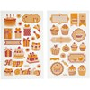 Stickers, ark 10x16 cm, , bursdag og cup cakes, 4ark