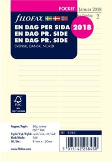 Dagbok Filofax Pocket 2018 D/S S/D/N