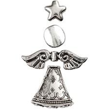 Sett-sammen-selv Engler, H: 5,5 cm, antikk sølv, 4stk.
