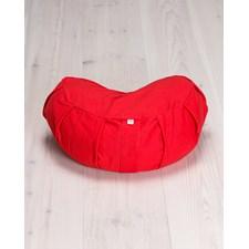Meditationskudde, halvmåneformad, röd - Yogiraj