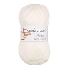 Alpaca Liten Storm Garn 50 g Hvit 700 Viking Garn