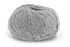 Knit At Home Chunky Alpaca Wool Garn Alpacka Ull Mix 50 g Ljus Grå Melange 604