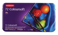 Derwent Coloursoft 72 fargeblyanter i metalleske
