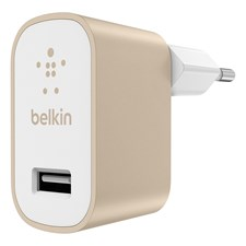 Premium wall charger 2.4 AMP Guld