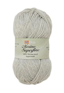 Viking of Norway Merino Superfine 50 gr Perlegrå 612