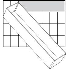 Säilytyslokero, koko 235x55 mm, kork. 47 mm, 1 kpl