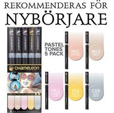 Chameleon 5-pack Pen Marker Pastel Tones