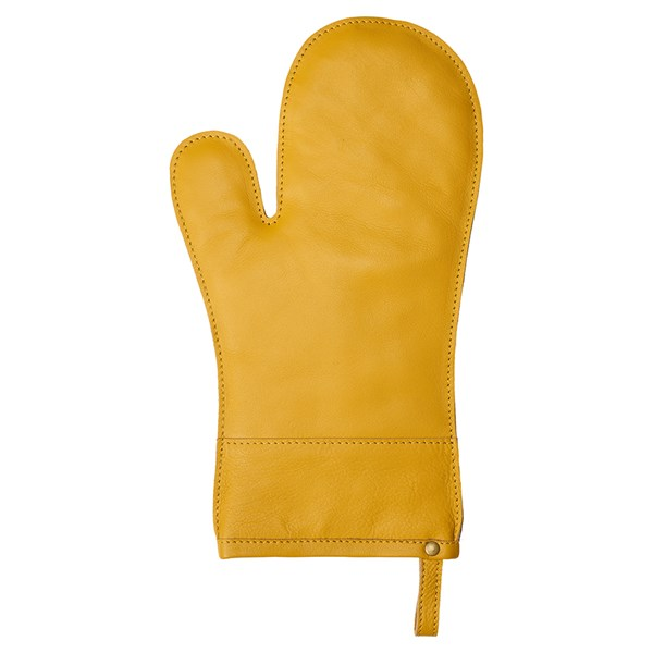 Linum Fuego Grytvante Läder 19 x 33 cm Mustard gul - grillhandske