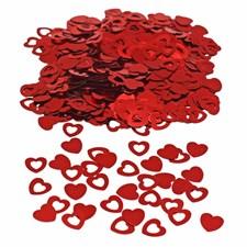 Konfetti Røde Hjerter