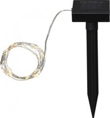 Dew Drop ljusslinga, 50-ljus, solcellslampa