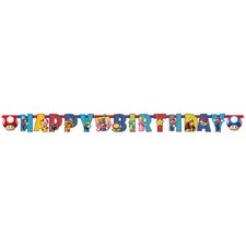 Super Mario Banner, Happy Birthday