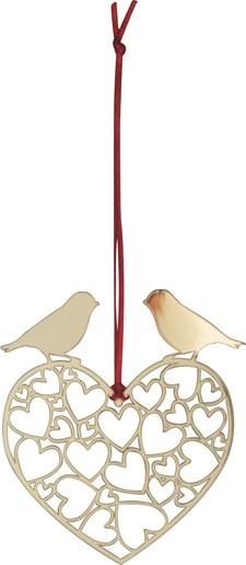 Hänge Fågelhjärta Guld