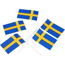 Tårtflaggor, Svenska flaggan, stl. 30x50 mm, 100 st.