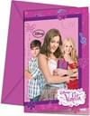 Violetta-kutsukortit, 6 kpl