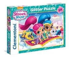 Pussel Shimmer & Shine Glitter, 104 bitar, Clementoni