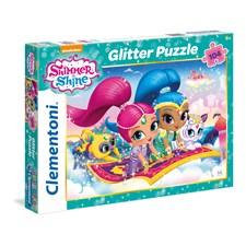 Puslespill Shimmer & Shine, Glitter, 104 brikker, Clementoni