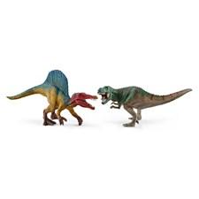 Spinosaurus och T-rex, liten, Schleich