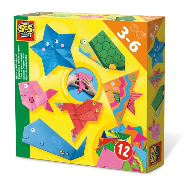 Pysselset  Jag lär mig vika origami  SES Creative - pysselkit för barn