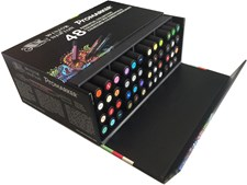 "Promarker Set med 48 st Markers ""Essential Collection"" i box"